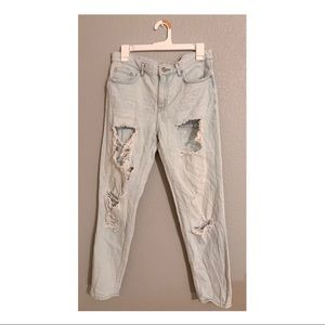 Forever 21 Ultra Distressed Light Wash Jeans